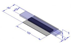 Fig.17 Dimension of bonding specimen (steel and glass)